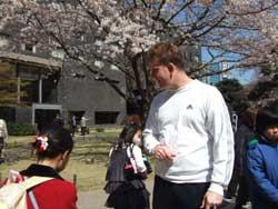 グランドプリンス高輪の桜 まだ満開ではありませんでした。