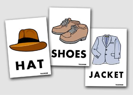 2月の目標 「服、身につけるもの」を英語で言えるようになる
