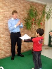 児童英検の表彰状授与式